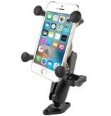 "RAM Mounts® 1"" Ball Mount with Diamond Base & Universal X-Grip® Cell/iPhone Cradle"