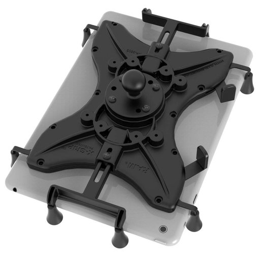 """RAM Mounts® Universal X-Grip® Cradle with Round Base Adapter for 10"""" Large Tablets"""
