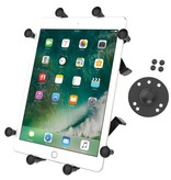 "RAM Mounts® Universal X-Grip® Cradle with Round Base Adapter for 10"" Large Tablets"