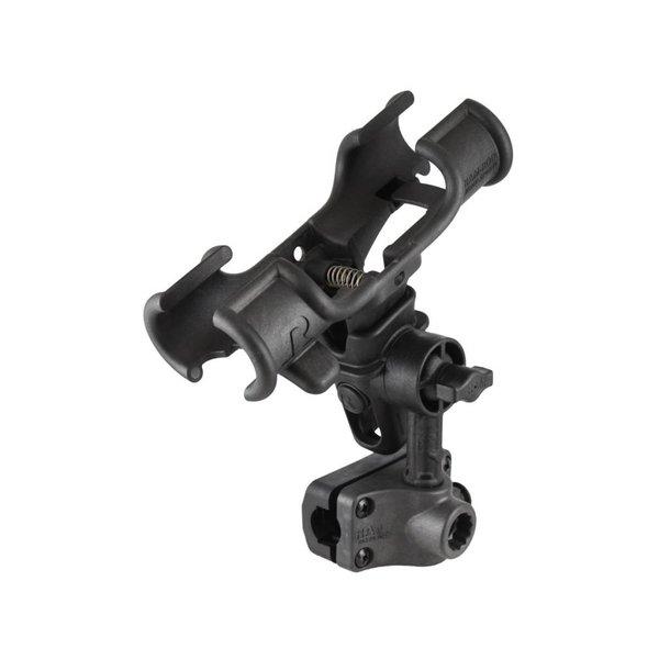 "RAM-ROD® Light-Speed™ Holder with 4"" Long Spline Post and Bulkhead/Rail/Flat Surface Mounting Base"