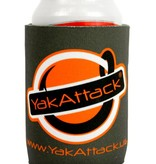 Yak-Attack Get Hooked Logo Koozie - Grey