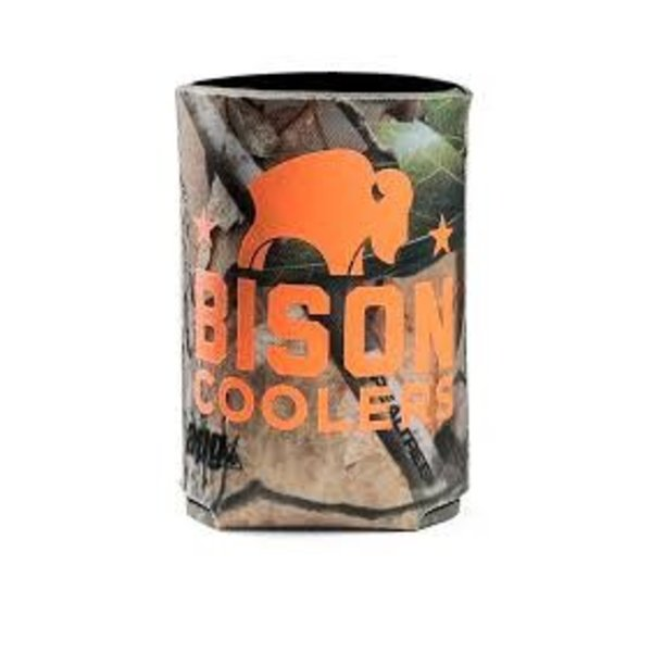 Camo Koozie With Bison Logo