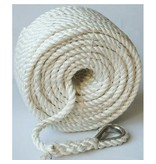 """Buccaneer Rope Nylon Anchor Line 1/2"""" 200ft With Eye Splice & Thimble"""