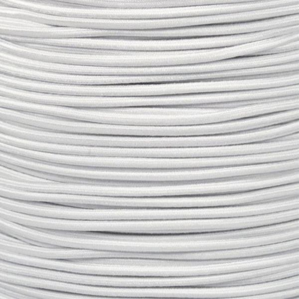 "Shock Cord 3/8"" White (By Foot)"
