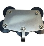 """Johnson Marine Backstay Car 1/4"""" With Becket And Sheave"""