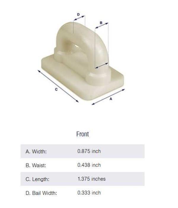 "Bainbridge Internal Flat Sail Slides - Plastic (Pack of 5) 7/8"""