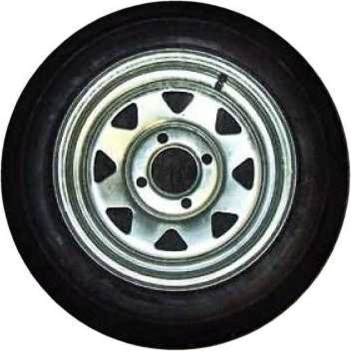 """Trailex 4.80x12"""" Spare Tire 4 Hole Galvanized"""