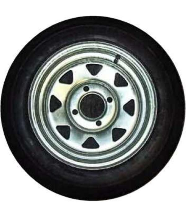 "Trailex 4.80x12"" Spare Tire 4 Hole Galvanized"