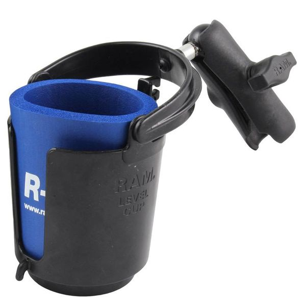 Level Cup™ Drink Holder with Koozie & Double Socket Arm