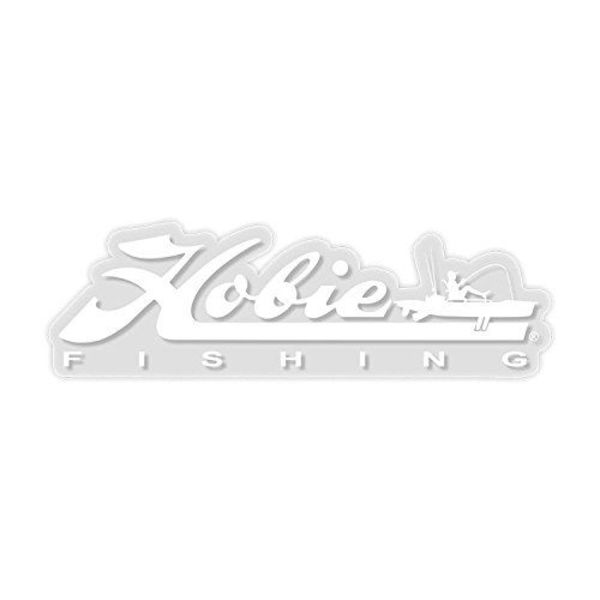 DECAL, 12'' HOBIE FISHING WHITE