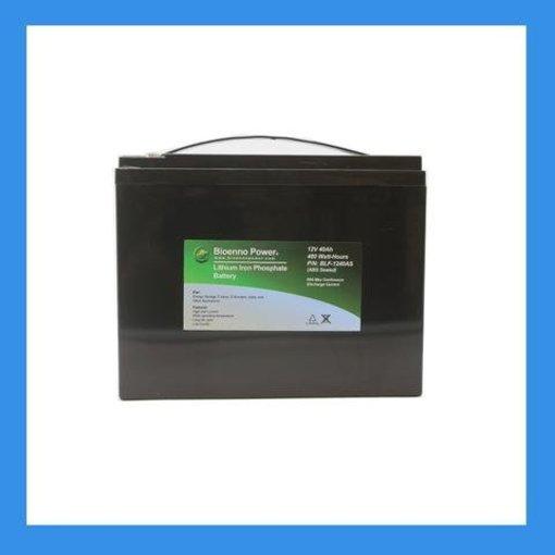 Bioenno Power 12V, 40Ah LiFePO4 Battery+Charger Kit