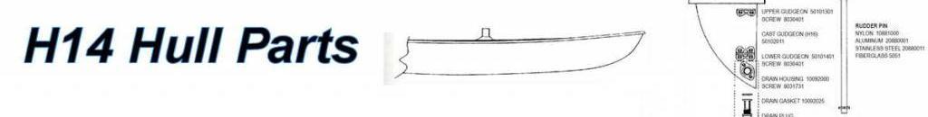 Hobie 14 Hull Parts
