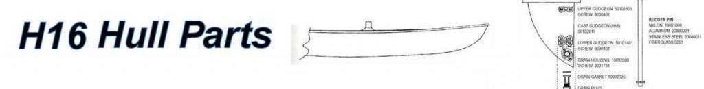 Hobie 16 Hull Parts