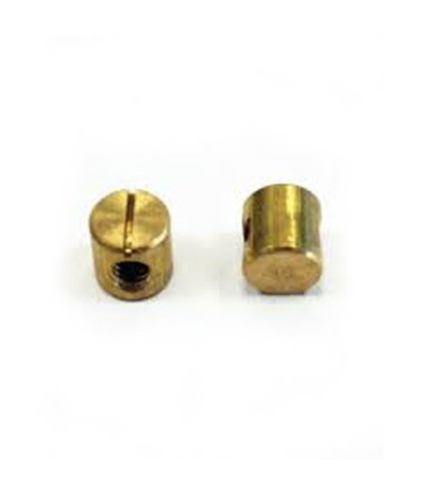 Brass Barrel Nut 12mm 1/4-20