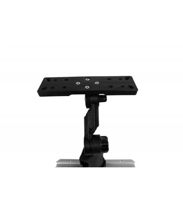 Yak-Attack Rectangular Fish Finder Mount with Track Mounted LockNLoad™ Mounting System
