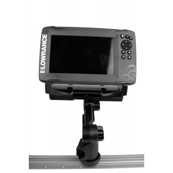 Rectangular Fish Finder Mount with Track Mounted LockNLoad Mounting System