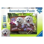 Ravensburger Ravensburger Travelling Pups Puzzle 100pcs XXL