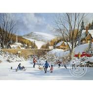 Cobble Hill Puzzles Cobble Hill Hockey on Frozen Lake Puzzle 1000pcs