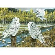Cobble Hill Puzzles Cobble Hill Snowy Owl Gathering Puzzle 1000pcs