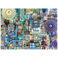 Cobble Hill Puzzles Cobble Hill Rainbow Collection Blue Puzzle 1000pcs