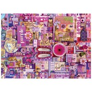 Cobble Hill Puzzles Cobble Hill Rainbow Collection Purple Puzzle 1000pcs