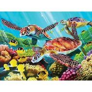 Cobble Hill Puzzles Cobble Hill Molokini Turtles Family Puzzle 350pcs