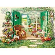 Cobble Hill Puzzles Cobble Hill The Blossom Shoppe Puzzle 500pcs