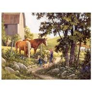 Cobble Hill Puzzles Cobble Hill Summer Horses Puzzle 500pcs