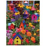 Cobble Hill Puzzles Cobble Hill Birdhouses Easy Handling Puzzle 275pcs