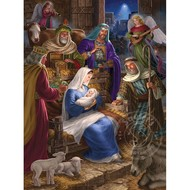Cobble Hill Puzzles Cobble Hill Holy Night Family Puzzle 400pcs