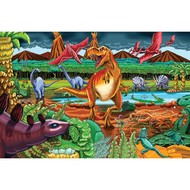Cobble Hill Puzzles Cobble Hill Dinosaur Volcano Floor Puzzle 36pcs