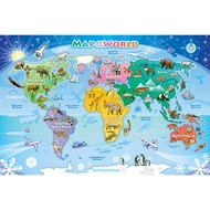 Cobble Hill Puzzles Cobble Hill Map of the World Floor Puzzle 36pcs