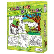 Cobble Hill Puzzles Cobble Hill Coloring Puzzles Horses 3 x 24pcs