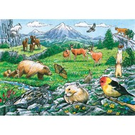 Cobble Hill Puzzles Cobble Hill Rocky Mountain Wildlife Tray Puzzle 35pcs