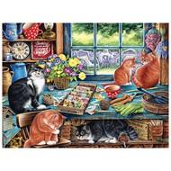 Cobble Hill Puzzles Cobble Hill Cats Retreat Easy Handling Puzzle 275pcs