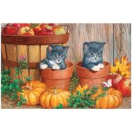 Cobble Hill Puzzles Cobble Hill Kittens with Pumpkins Puzzle 60pcs