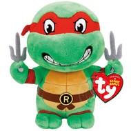 "TY TY Beanie Babies TMNT Raphael 8"" Reg"