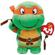 "TY TY Beanie Babies TMNT Michelangelo 8"" Reg"
