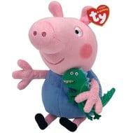 """TY TY Beanie Babies Peppa Pig: George Pig 8"""" Reg"""