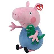 "TY TY Beanie Babies Peppa Pig: George Pig 18"" Lrg"
