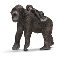 Schleich Schleich Gorilla, female with baby RETIRED