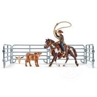 Schleich Schleich Team Roping with Cowboy SNA EXCLUSIVE