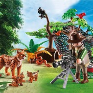 Playmobil Playmobil Lynx Family with Cameraman RETIRED
