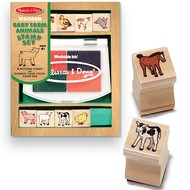Melissa & Doug Melissa & Doug Baby Farm Animals Stamp Set_