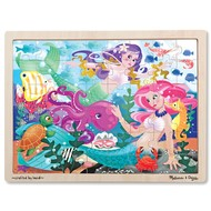 "Melissa & Doug Melissa & Doug Mermaid ""Fantasea"" Wooden Tray Puzzle 48pcs"
