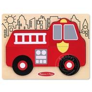 Melissa & Doug Melissa & Doug Fire Truck Chunky Puzzle 6pcs _