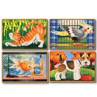 Melissa & Doug Melissa & Doug Pets Wooden Jigsaw Puzzles 4 - 12pcs in a Box