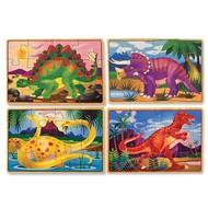 Melissa & Doug Melissa & Doug Dinosaurs Wooden Jigsaw Puzzles 4 - 12pcs in a Box