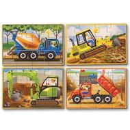 Melissa & Doug Melissa & Doug Construction Wooden Jigsaw Puzzles 4 - 12pcs in a Box