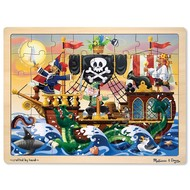 Melissa & Doug Melissa & Doug Pirate Adventure Wooden Tray Puzzle 48pcs